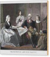 Washington And His Family Wood Print