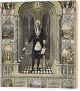 Washington As A Freemason Wood Print