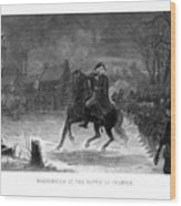 Washington At The Battle Of Trenton Wood Print by War Is Hell Store