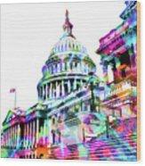 Washington Capitol Color 1 Wood Print