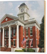 Washington County Courthouse Wood Print by Kristin Elmquist