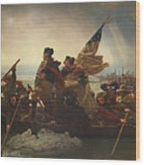 Washington Crossing The Delaware Wood Print by War Is Hell Store