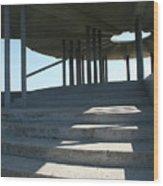 Washington Dam Pavilion Wood Print