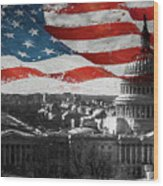Washington Dc 56t Wood Print