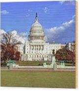 Washington Dc Capitol Building Wood Print