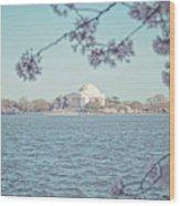 Washington Dc In Spring Wood Print