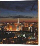 Washington Monument Night Sky Wood Print