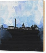 Washington Dc Skyline Minimalism 8 Wood Print