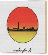Washington Dc Skyline Minimalism 9 Wood Print