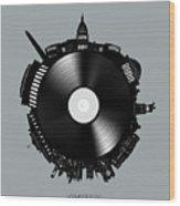 Washington Dc Skyline Vinyl 8 Wood Print