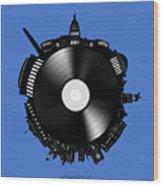 Washington Dc Skyline Vinyl 9 Wood Print
