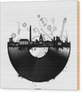 Washington Dc Skyline Vinyl Wood Print