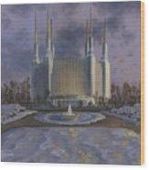 Washington Dc Temple Wood Print by Jeff Brimley