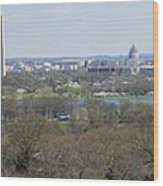Washington Dc View From Custis Lee House Wood Print