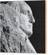Washington Granite In Black And White Wood Print