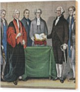 Washington: Inauguration Wood Print