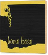 Washington Is Home Base Black Wood Print