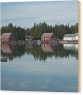 Washington Island Harbor 5 Wood Print