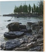 Washington Island Shore 1 Wood Print