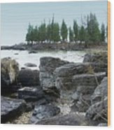 Washington Island Shore 3 Wood Print