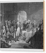 Washington Meeting His Generals Wood Print
