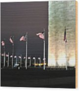 Washington Monument At Night Wood Print by Artistic Photos