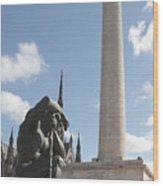 Washington Monument In Baltimore Wood Print