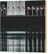 Washington Monument Reflections Wood Print