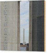 Washington Monuments Travel Wood Print