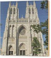 Washington National Cathedral Front Exterior Wood Print