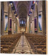 Washington National Cathedral Interior Wood Print