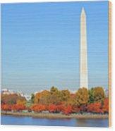 Washington On A Autumn Day Wood Print