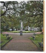 Washington Park, Charleston, Sc Wood Print