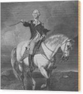 Washington Receiving A Salute At Trenton Wood Print