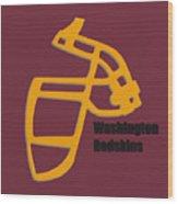Washington Redskins Retro Wood Print