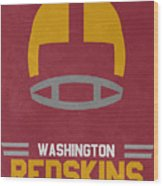 Washington Redskins Vintage Art Wood Print