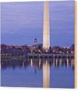 Washington Refelection Wood Print