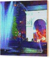 Washington Square Fountain 13c Wood Print