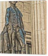 Washington Statue - Federal Hall  #1 Wood Print