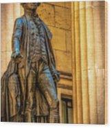 Washington Statue - Federal Hall #2 Wood Print