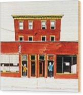 Washington Street Barbers Wood Print