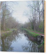 Washingtons Crossing - Along The Delaware Canal Wood Print