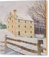 Washington's Grist Mill Wood Print