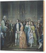Washingtons Marriage Wood Print