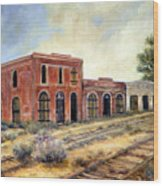 Washoe City Nevada Wood Print by Evelyne Boynton Grierson