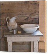 Washstand Wood Print