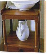 Washstand Wood Print