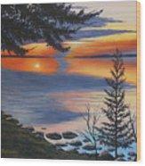 Waskesiu Sunset Wood Print