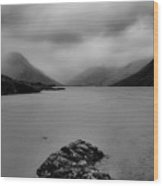 Wastwater In Bad Weather Wood Print