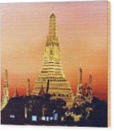 Wat  Aroon Wood Print